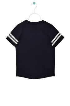 100% cotton jersey T-shirt, Navy Blue, hi-res