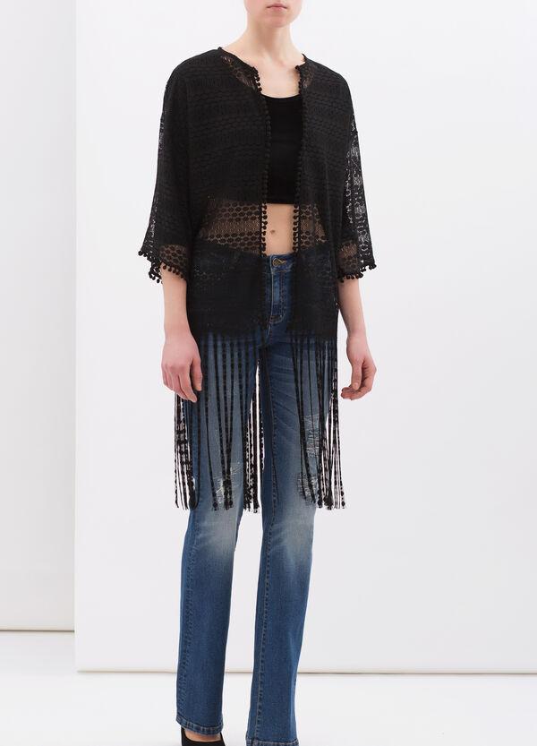 Openwork lace cardigan | OVS