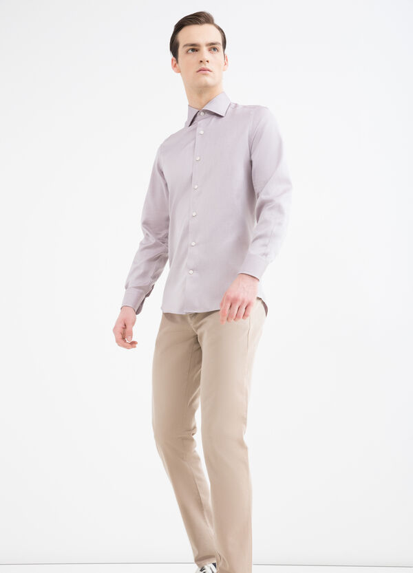 Camicia slim fit in puro cotone | OVS