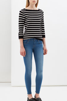 Skinny jeans with zips at ankles, Light Wash, hi-res