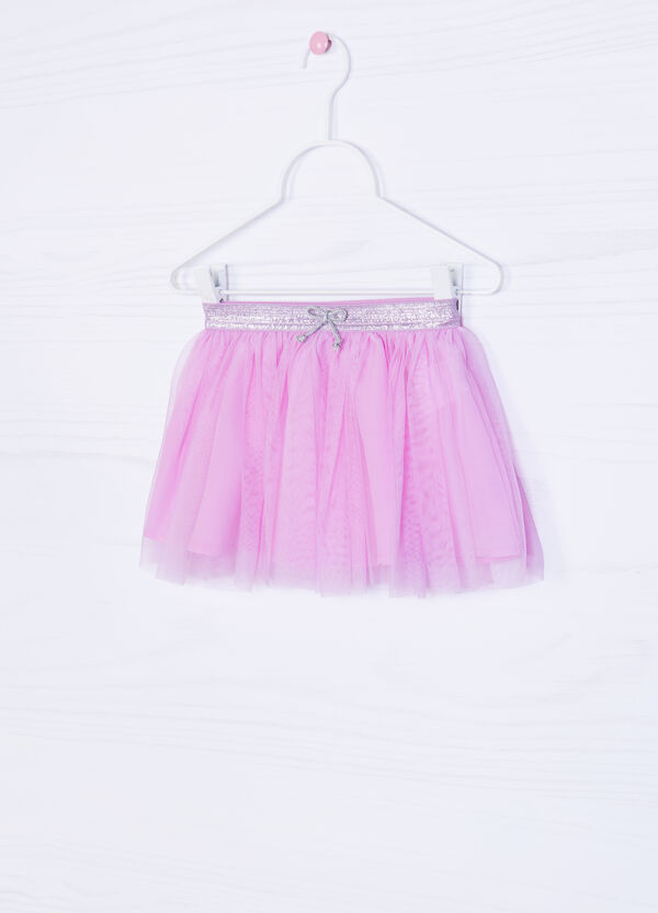 Solid colour tulle skirt with glitter | OVS