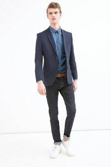 Giacca sartoriale regular fit, Blu, hi-res