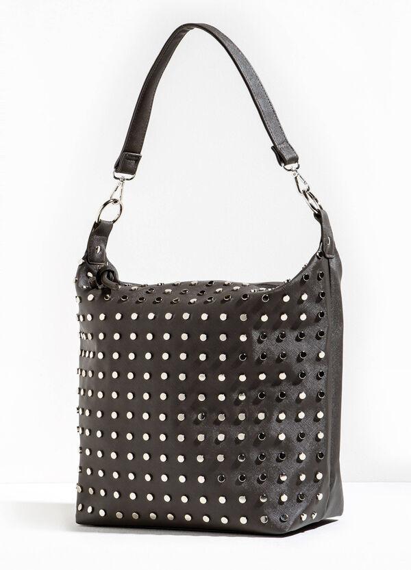 Solid colour shoulder bag with studs | OVS