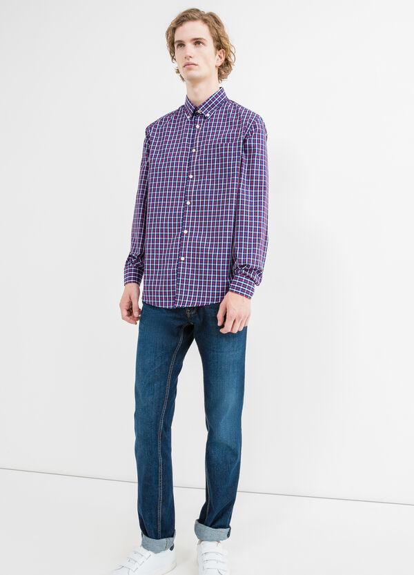 Check cotton casual shirt | OVS