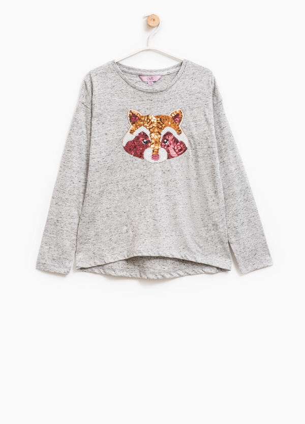 Mélange T-shirt with sequins | OVS