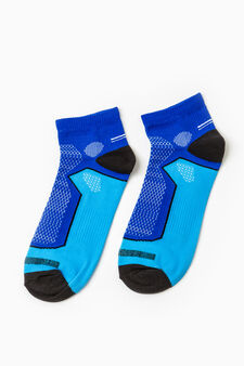 Two-pair pack OVS Active Sport Training stretch socks, Light Blue, hi-res