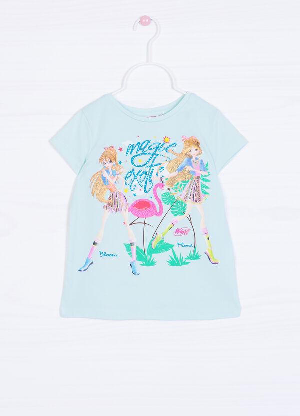 T-shirt cotone stretch stampa Winx | OVS