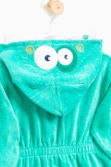 Accappatoio in puro cotone, Verde, hi-res