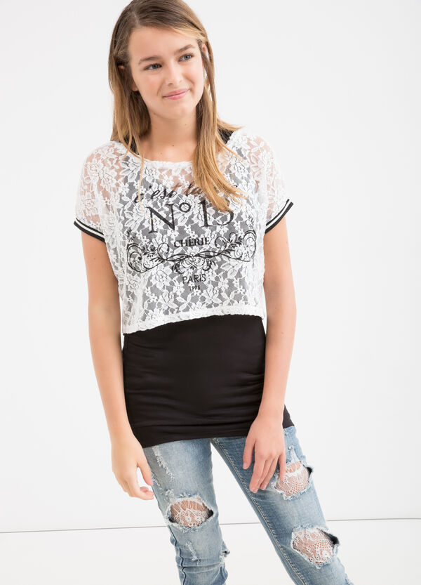 Teen stretch double t-shirt | OVS