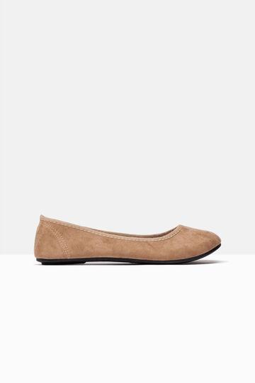 Round toe ballerina pumps, Camel, hi-res