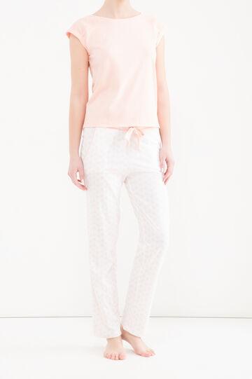 Patterned pyjamas in 100% cotton, Pink, hi-res