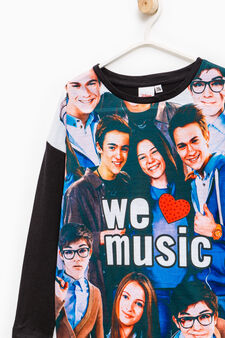 T-shirt with maxi Alex & Co. print, Black, hi-res