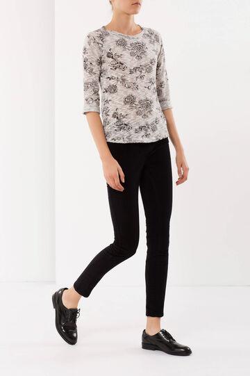 Pantaloni in cotone, Nero, hi-res
