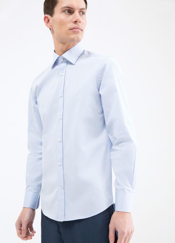 Solid colour slim fit shirt | OVS