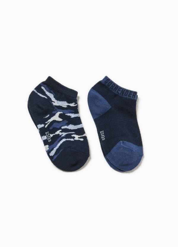 Set due paia di calze unito e camouflage | OVS