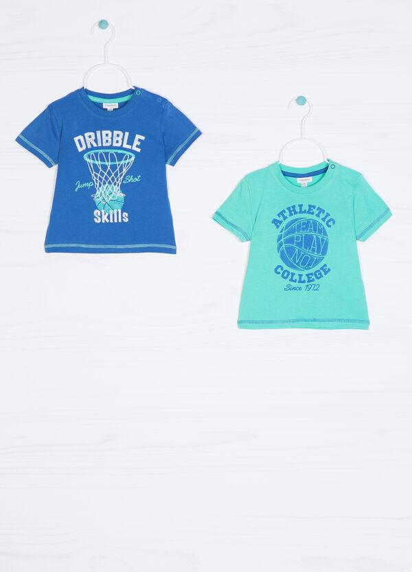 Set due t-shirt puro cotone stampa | OVS