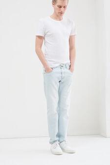 Jeans slim fit cinque tasche used, Lavaggio chiaro, hi-res