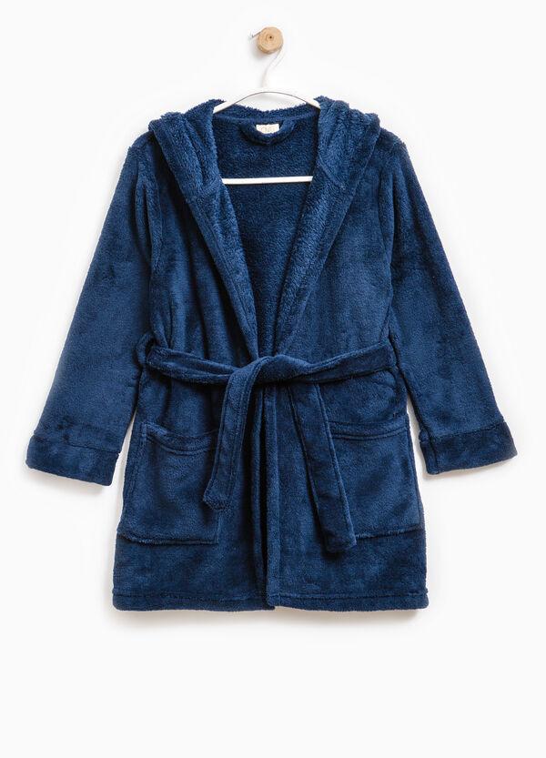 Bathrobe with double pocket and hood | OVS