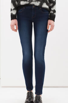 Slim-fit stretch jeans, Dark Blue, hi-res