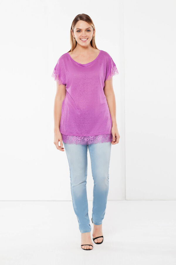 Curvy T-shirt with lace | OVS