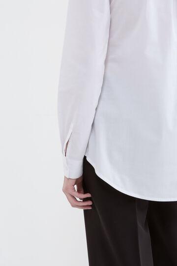 Solid colour stretch shirt, White, hi-res