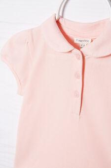 Polo cotone stretch con strass, Rosa chiaro, hi-res