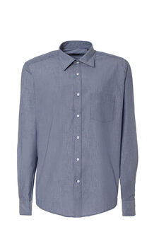 Slim fit fine striped shirt, Blue, hi-res