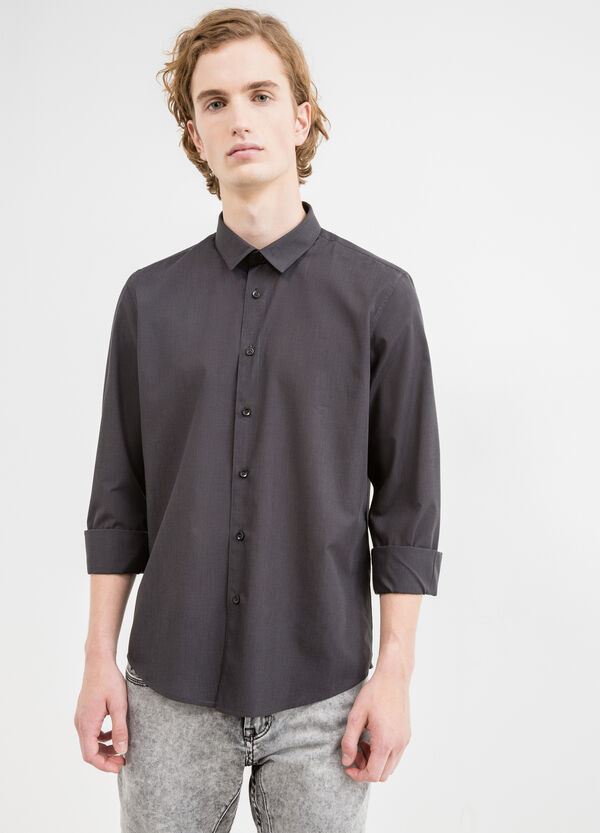Slim-fit casual shirt in cotton | OVS