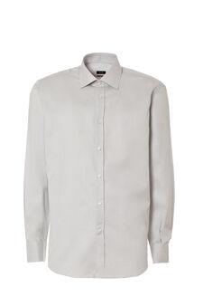 Regular-fit shirt in dobby, Light Grey, hi-res