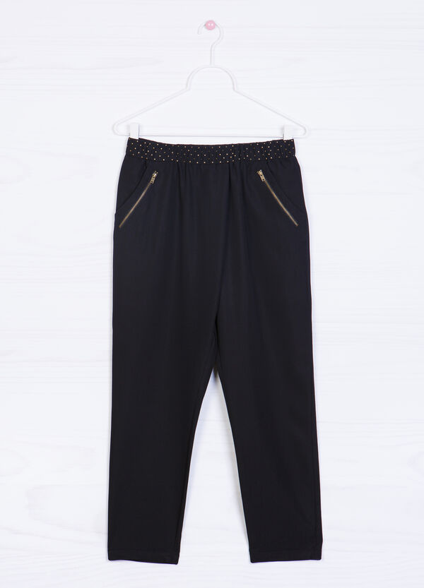 Modal blend trousers with studs | OVS