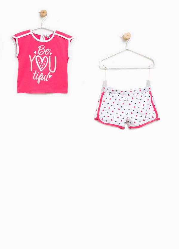 Patterned T-shirt and shorts outfit   OVS