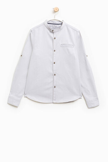 100% cotton shirt with small pocket, Off-white, hi-res