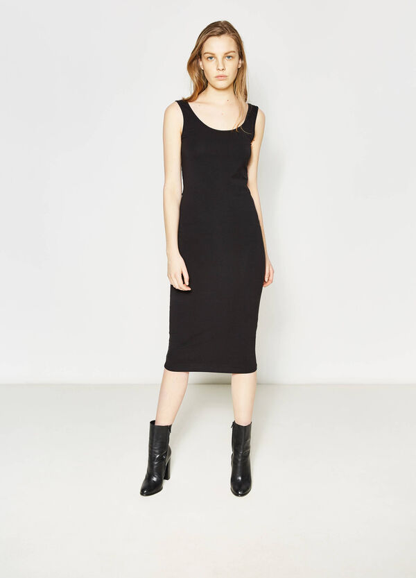 Sleeveless longuette tube dress | OVS
