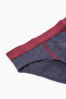 Se due slip cotone stretch a righe, Rosso bordeaux, hi-res