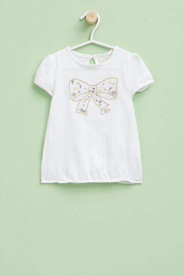 T-shirt with embroidery and sequins