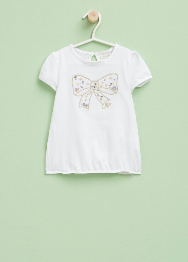 T-shirt with embroidery and sequins | OVS