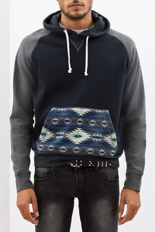 G&H hoodie with pouch pocket, Navy Blue, hi-res