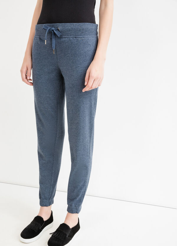 Linen and cotton joggers with drawstring | OVS