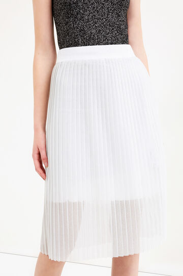 Pleated midi skirt with lurex, Grey/Silver, hi-res