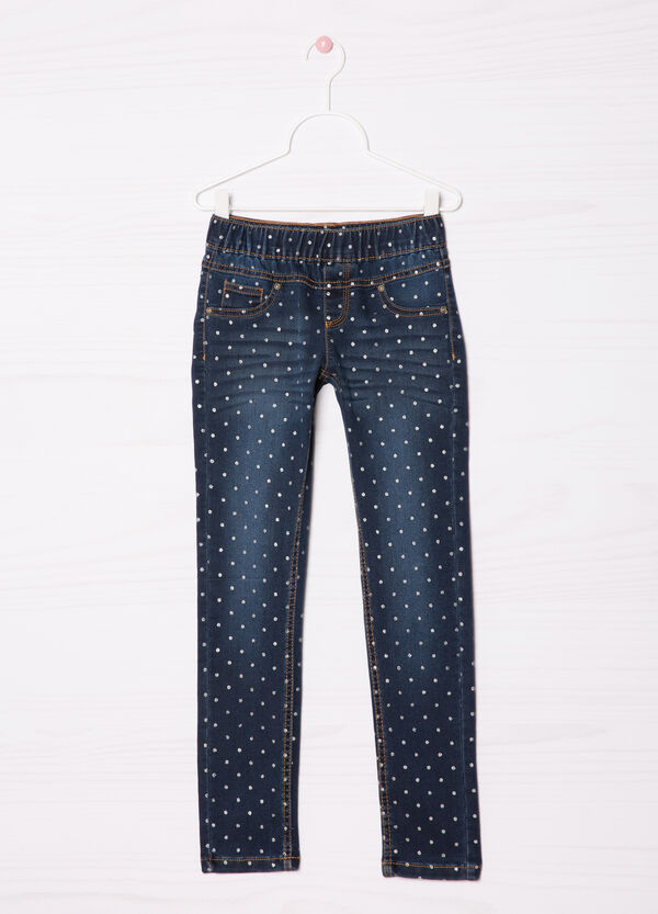 Jeggings stretch fantasia pois | OVS
