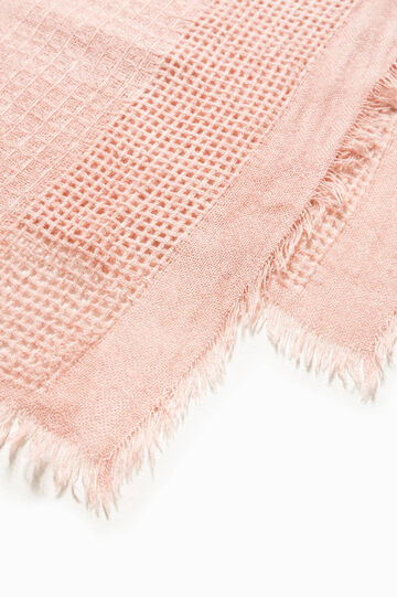 Solid colour openwork scarf