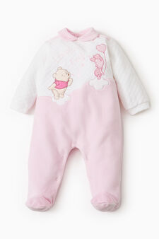 Winnie the Pooh onesie with feet, White/Pink, hi-res