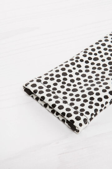 Polka dot glasses pouch, Black/White, hi-res