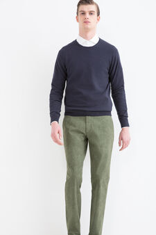 Rumford stretch cotton trousers, Green, hi-res
