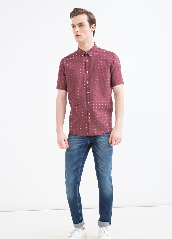 Flower print cotton shirt | OVS