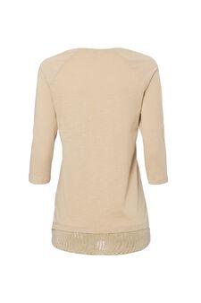 Smart Basic T-shirt in 100% cotton, Khaki, hi-res