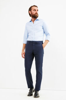 Rumford micro patterned trousers, Blue, hi-res