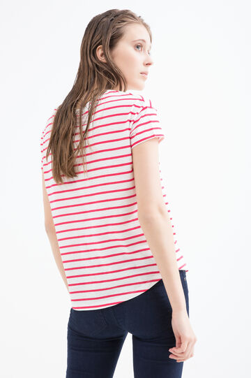 T-shirt puro cotone stampa Minnie, Bianco, hi-res