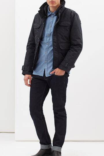 G&H plain jacket with pockets, Navy Blue, hi-res