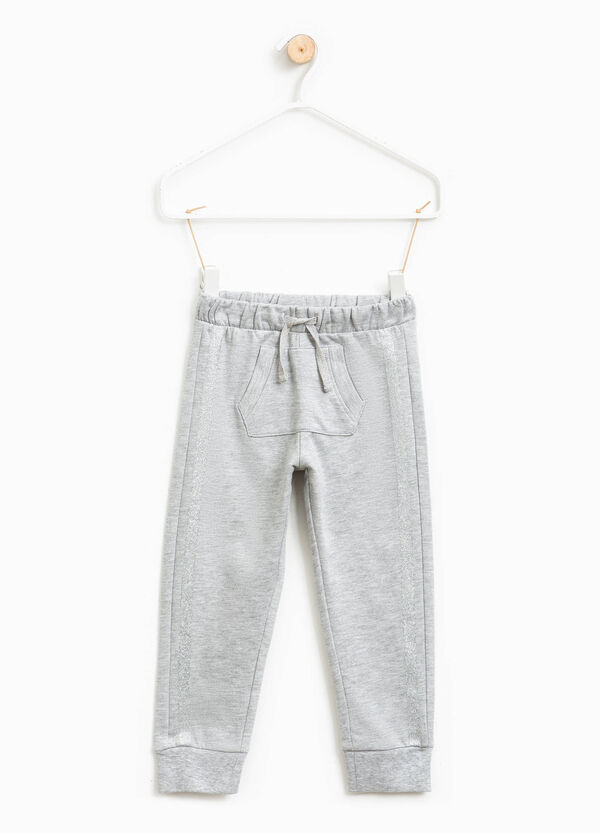 Joggers with glitter bands | OVS